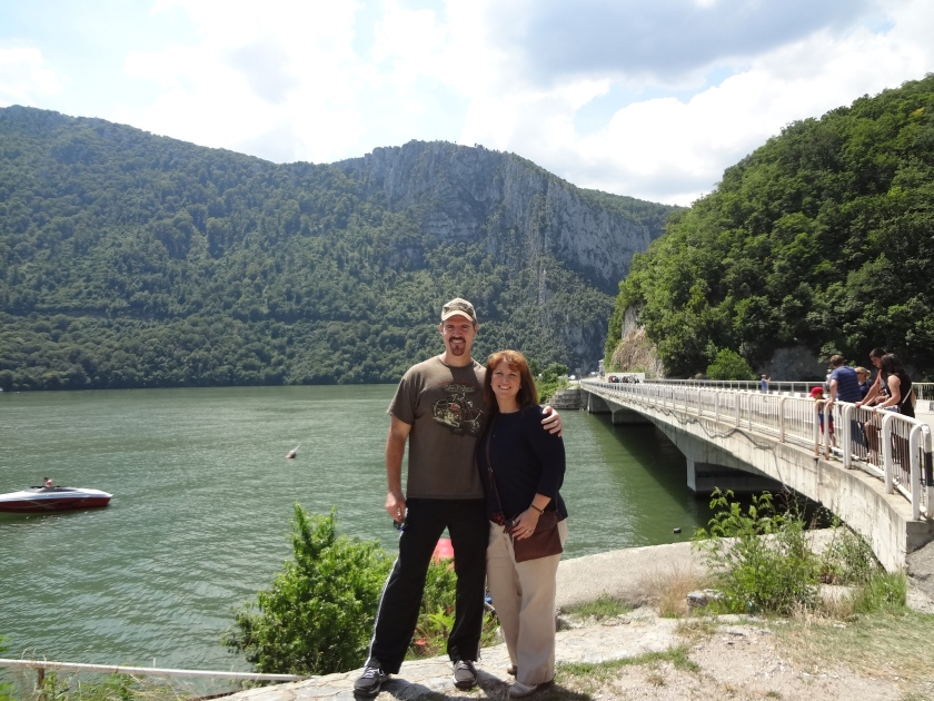 2nd Man and I at the banks of the Danube River