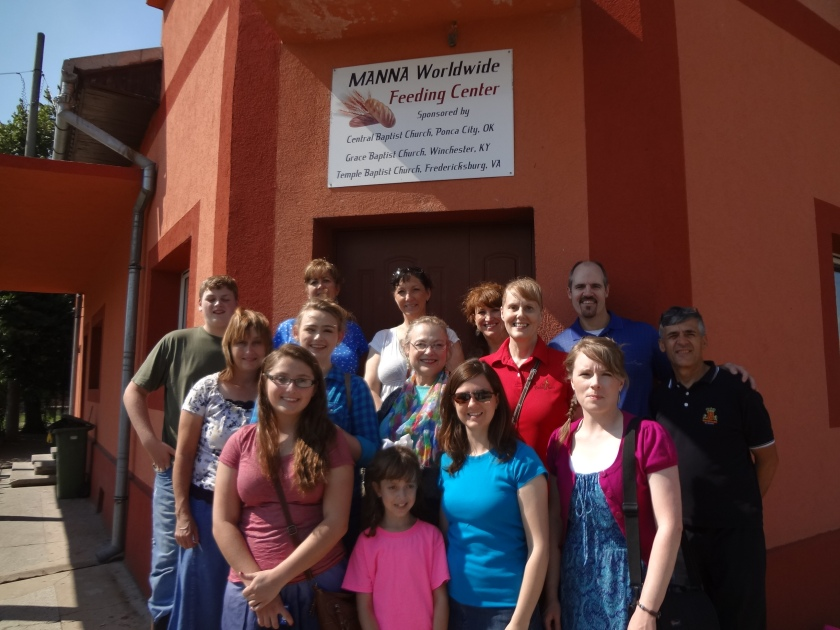 Our Group in front of the Rogova church/feeding center