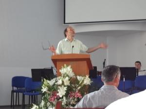 Morning Devotion time in Severin church