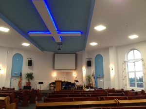 A view inside the sanctuary